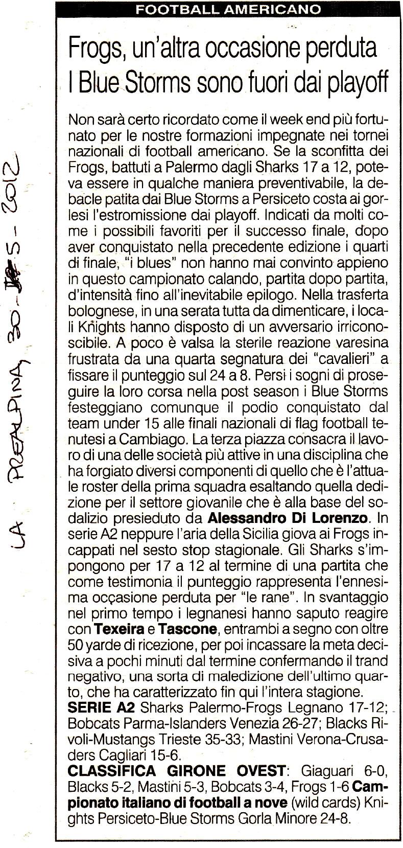 La Prealpina 20120530